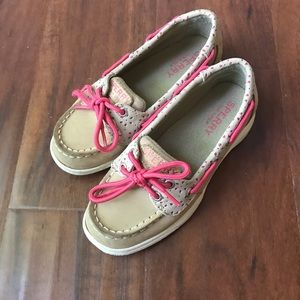 Girls Sperry's. Barely used.